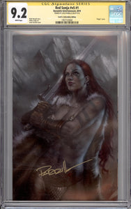 RED SONJA #1 CGC SS 9.2 (SIGNED BY LUCIO PARRILLO)
