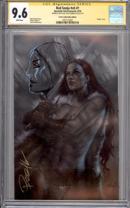RED SONJA #1 CGC SS 9.6 (SIGNED & REMARKED BY LUCIO PARRILLO)