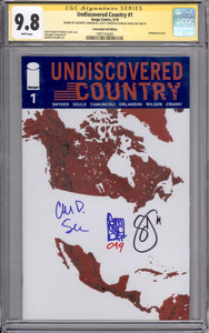 UNDISCOVERED COUNTRY #1 CGC SS 9.8 (SIGNED SNYDER, SOULE & CAMUNCOLI) NYCC FOIL EDITION
