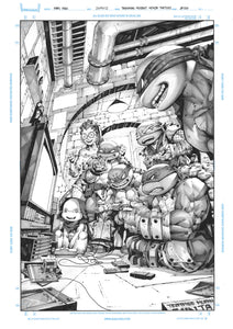 TEENAGE MUTANT NINJA TURTLES #102 KAEL NGU ORIGINAL COVER ART