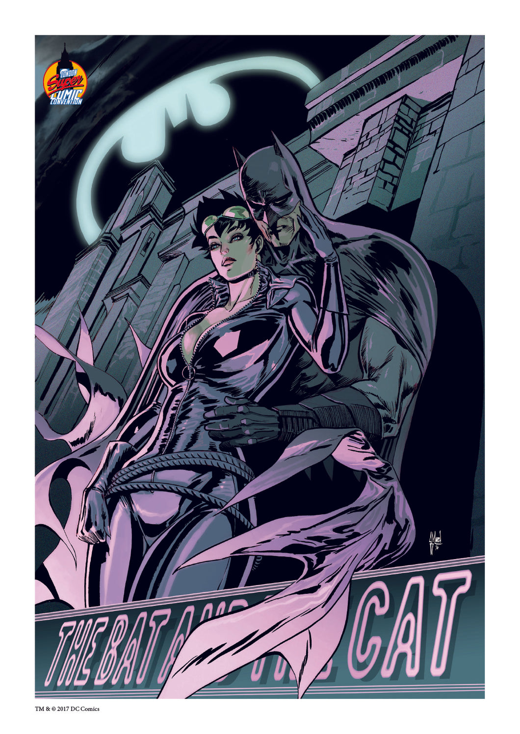 Guillem March Batman & Catwoman LSCC Exclusive DC Official Print 50 Limited