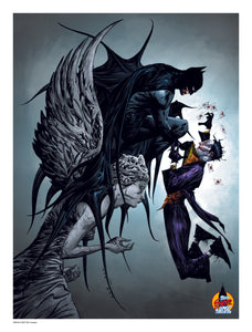 Jae Lee Batman & Joker LSCC Exclusive DC Official Print 50 Limited