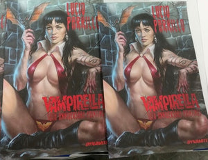 LUCIO PARRILLO VAMPIRELLA 50TH ANNIVERSARY PAINTINGS