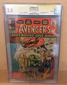 AVENGERS #1 CGC SS 2.5 (SIGNED BY STAN LEE)