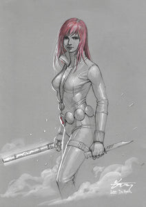 InHyuk Lee Black Widow Pencil and Ink sketch