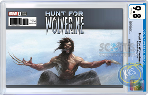TRADE DRESS CGC 9.8 EDITION Hunt for Wolverine #1 Gabriele Dell'Otto Scott's Collectables Variant Cover
