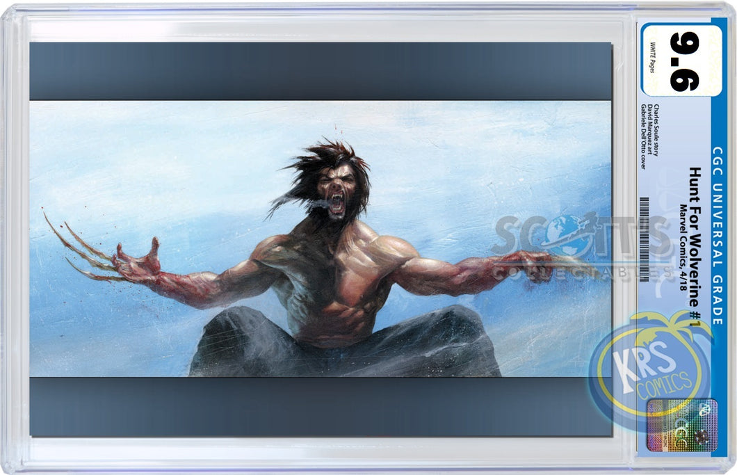VIRGIN CGC 9.6 Hunt for Wolverine #1 Gabriele Dell'Otto Scott's Collectables Variant Cover