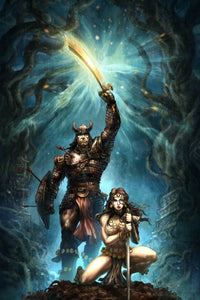 CIMMERIAN - QUEEN OF THE BLACK COAST #1 ALAN QUAH VIRGIN VARIANT (CONAN THE BARBARIAN MOVIE POSTER HOMAGE)