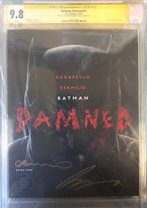BATMAN DAMNED #1  CGC SS 9.8 (SIGNED LEE BERMEJO & BRIAN AZZARELLO)
