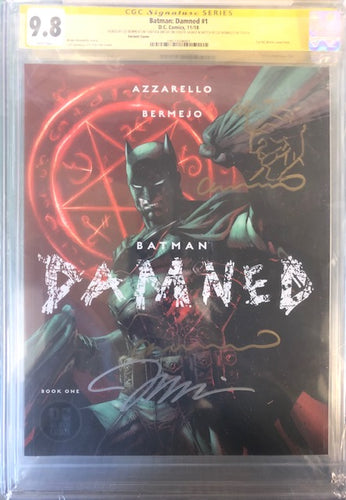 BATMAN DAMNED #1  CGC SS 9.8 (SIGNED JIM LEE & LEE BERMEJO + REMARK) JIM LEE VARIANT