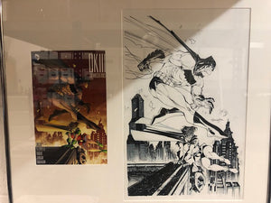 Scott Williams Original Art - DK3 Master Race #1 cover  11 x 17 (framed)