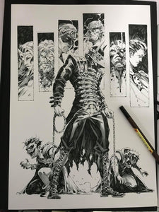 Kael Ngu Original Art Batman Dark Nights Metal Batman Who Laughs Illustration