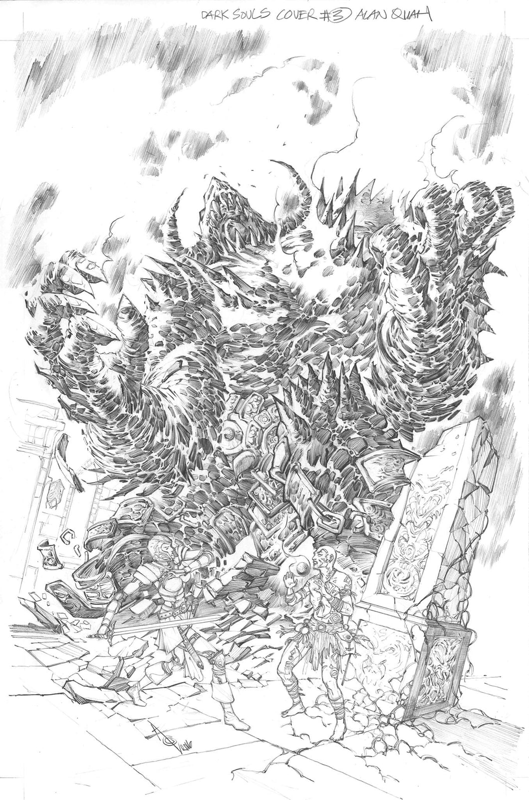 Alan Quah Original Art Dark Souls Breath of Andolus #4 Cover