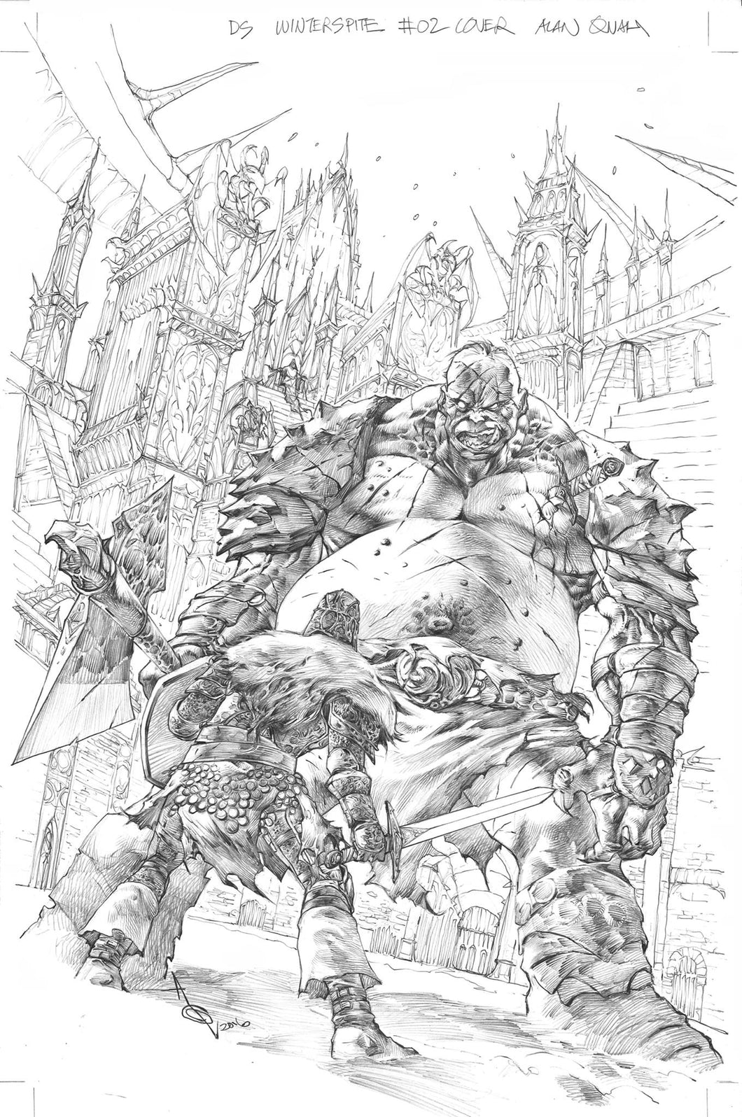 Alan Quah Original Art Dark Souls Winter's Spite #2 Cover