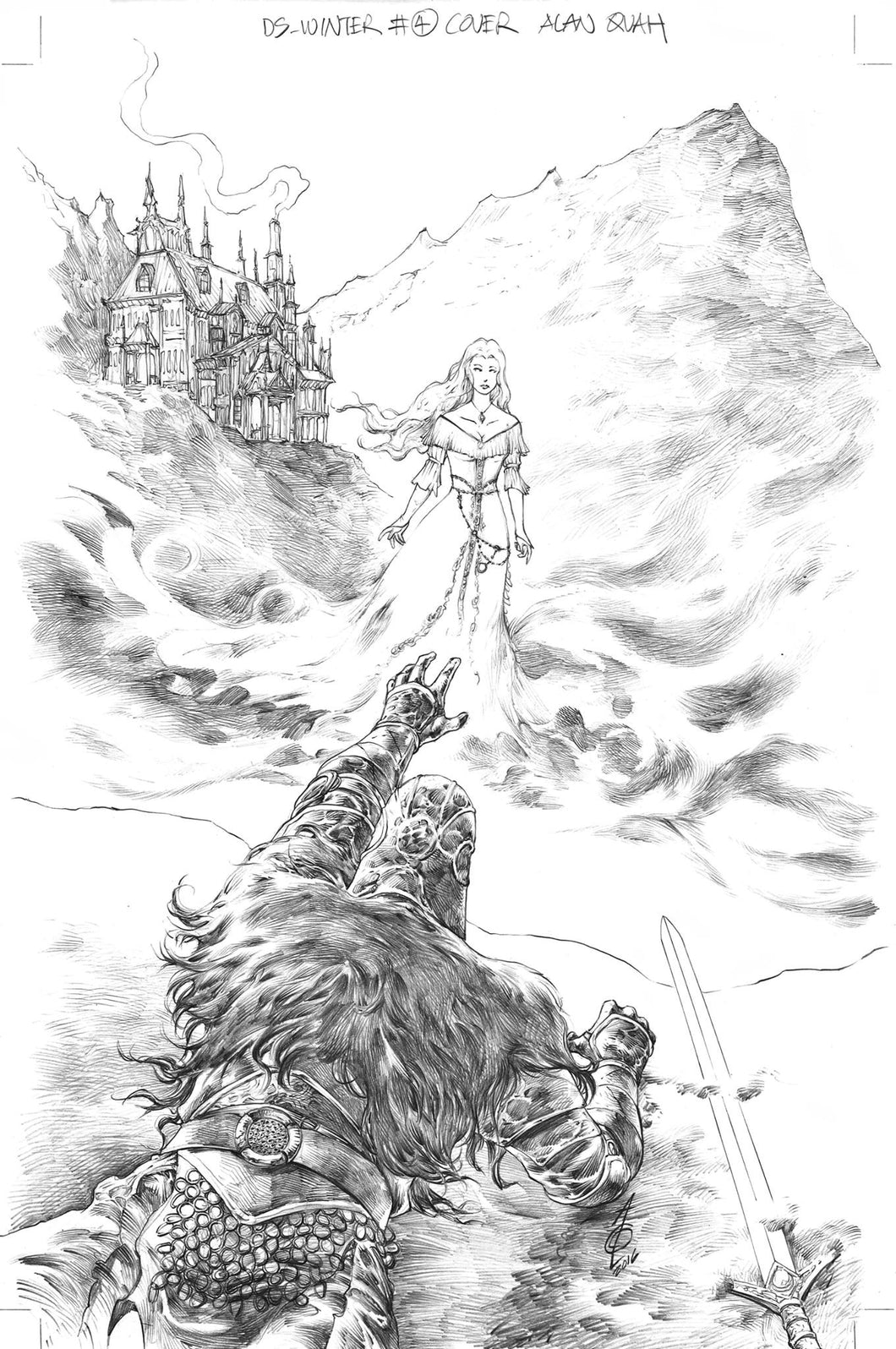 Alan Quah Original Art Dark Souls Winter's Spite #4 Cover
