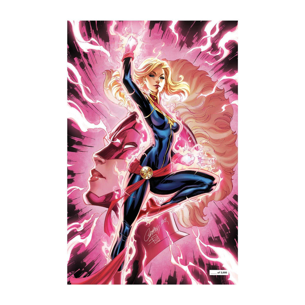 CAPTAIN MARVEL #7 SDCC GLOW IN THE DARK VARIANT ..SIGNED (J SCOTT CAMPBELL)