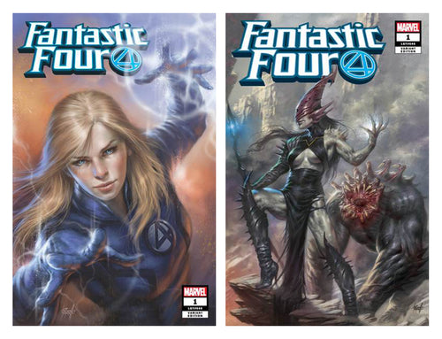 Fantastic Four #1 & #1 Villain Two Cover Set Lucio Parrillo Exclusive Covers