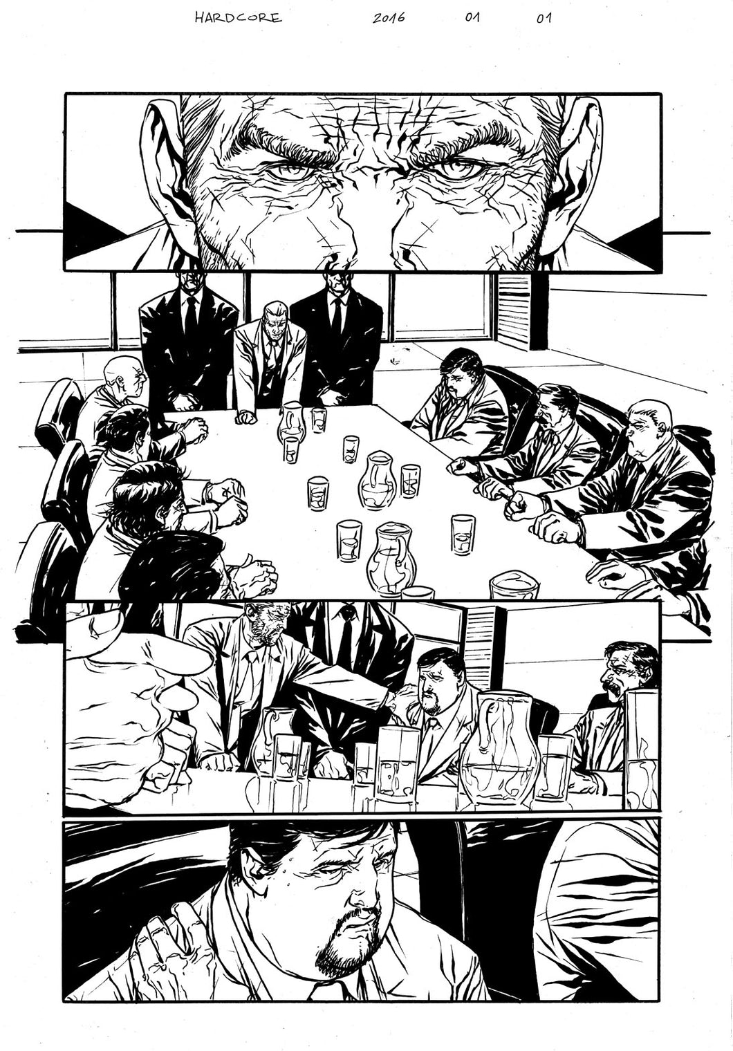 Hardcore #1 Original art - Page 01 by Alessandro Vitti