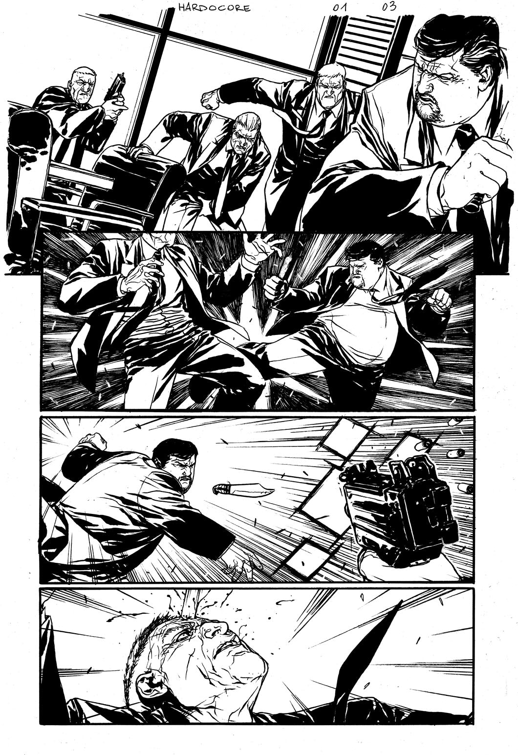 Hardcore #1 Original art - Page 03 by Alessandro Vitti