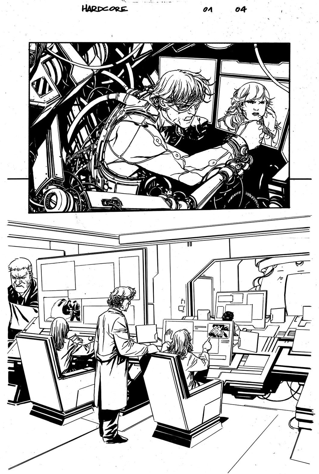 Hardcore #1 Original art - Page 04 by Alessandro Vitti