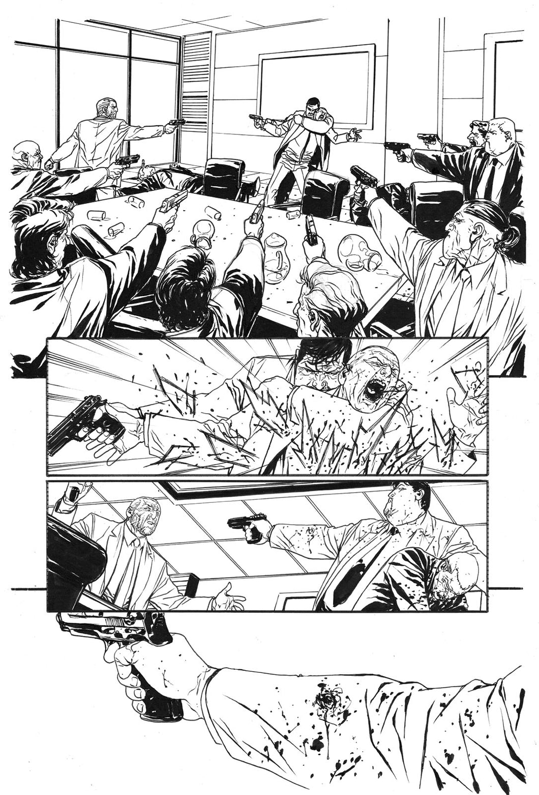 Hardcore #1 Original art - Page 05 by Alessandro Vitti