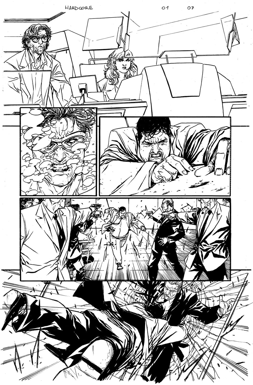 Hardcore #1 Original art - Page 07 by Alessandro Vitti