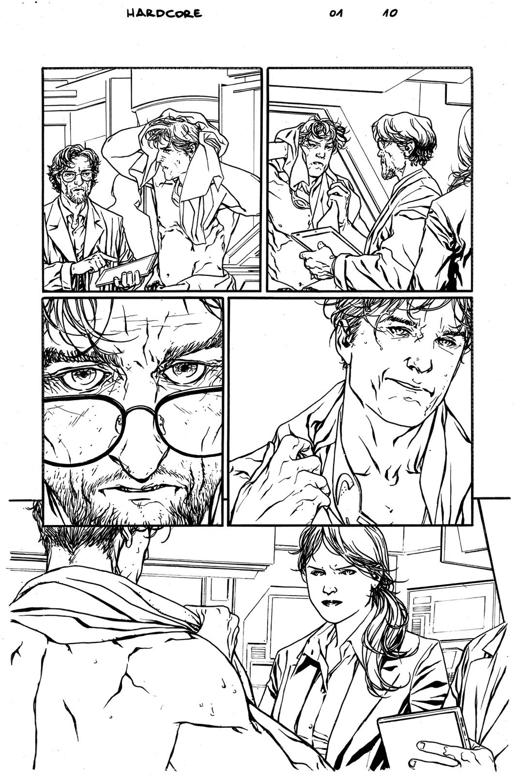 Hardcore #1 Original art - Page 10 by Alessandro Vitti