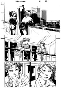 Hardcore #1 Original art - Page 11 by Alessandro Vitti