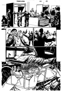 Hardcore #1 Original art - Page 13 by Alessandro Vitti