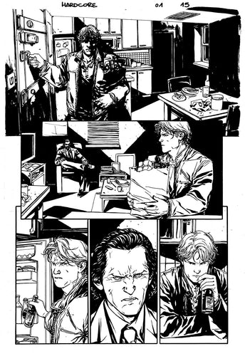 Hardcore #1 Original art - Page 15 by Alessandro Vitti