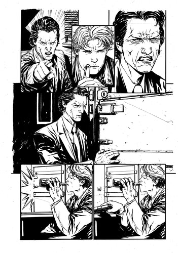 Hardcore #1 Original art - Page 16 by Alessandro Vitti