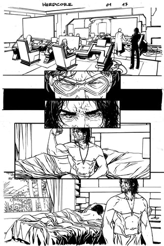 Hardcore #1 Original art - Page 17 by Alessandro Vitti