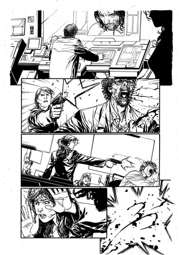 Hardcore #1 Original art - Page 18 by Alessandro Vitti