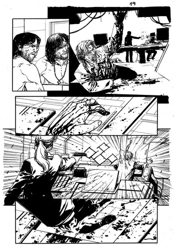 Hardcore #1 Original art - Page 19 by Alessandro Vitti