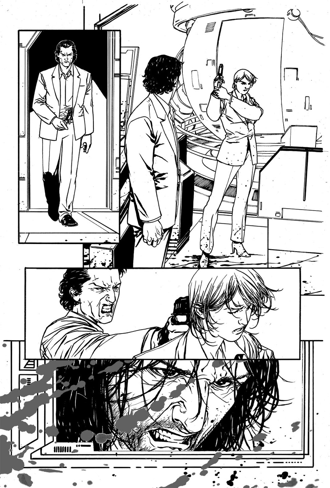 Hardcore #1 Original art - Page 20 by Alessandro Vitti