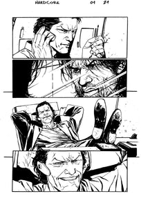 Hardcore #1 Original art - Page 21 by Alessandro Vitti