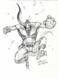 InHyuk Lee Hellboy Pencil Sketch