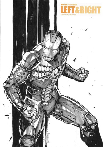 IRON MAN SKETCH FROM KAEL NGU 1 - ON LEFT & RIGHT SKETCHBOOK FROM KAEL NGU & ALAN QUAH