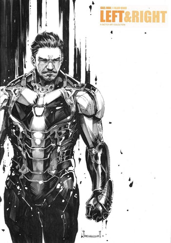 IRON MAN SKETCH FROM KAEL NGU 2 - ON LEFT & RIGHT SKETCHBOOK FROM KAEL NGU & ALAN QUAH