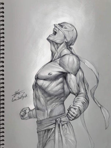 InHyuk Lee Iron Fist Pencil Sketch