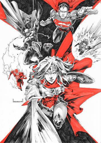 Kael Ngu Justice League #1 Original Art Cover