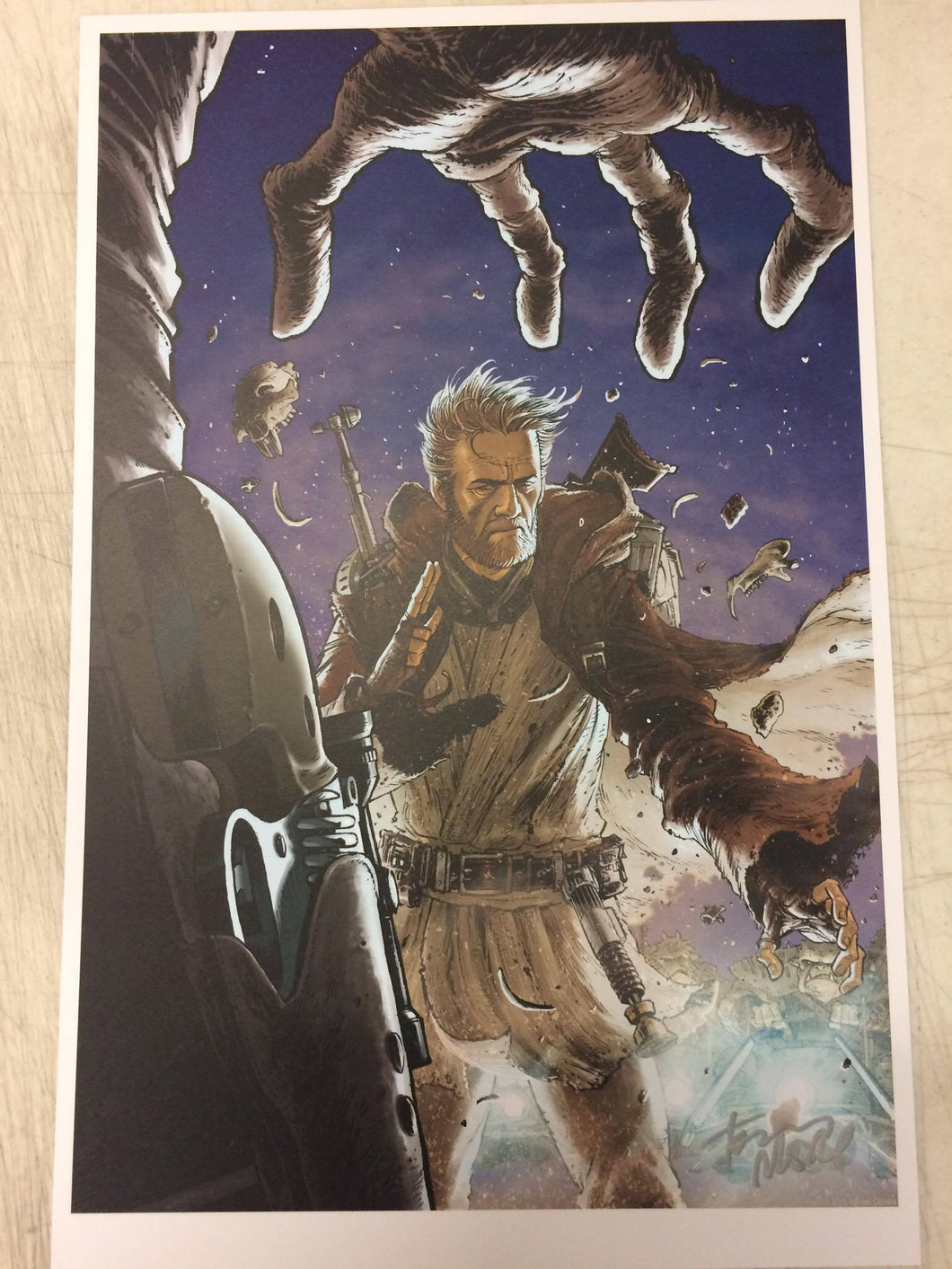 Tony Moore Star Wars Obi Wan Signed Print