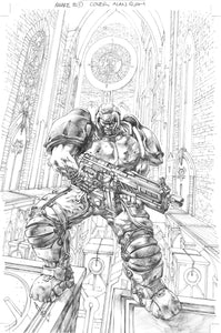 Alan Quah Original Art Quake Champions #1 Cover