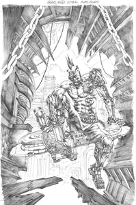 Alan Quah Original Art Quake Champions #2 Cover