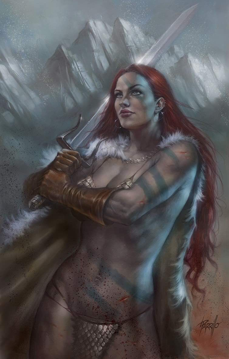 RED SONJA #1  PARRILLO VIRGIN VARIANT