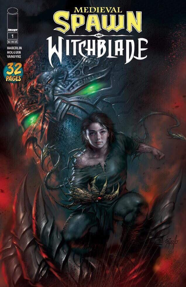Medieval Spawn / Witchblade #1 Lucio Parrillo Scott's Collectables Exclusive Cover