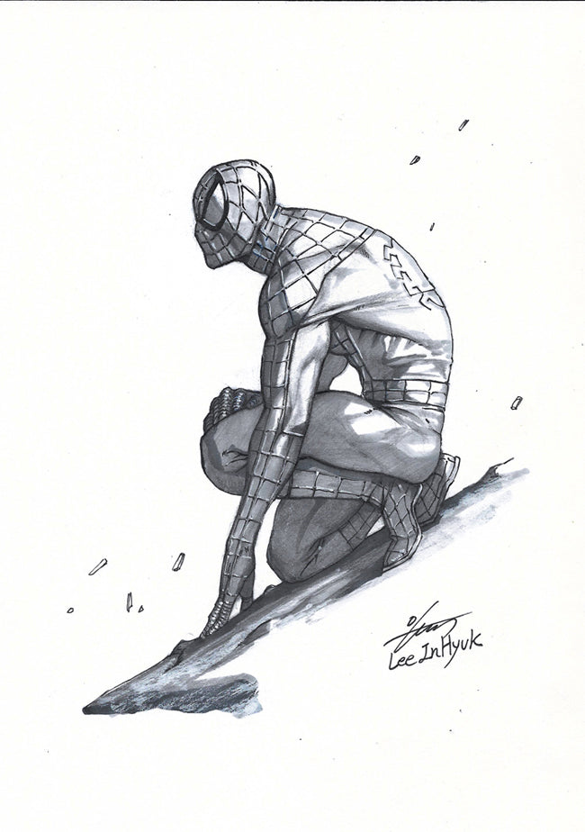 InHyuk Lee Spider-Man Pencil and Ink sketch