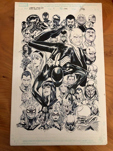 SYMBIOTE SPIDER-MAN ALIEN REALITY #1 ORIGINAL COVER ART BY MARCO CHECCHETTO