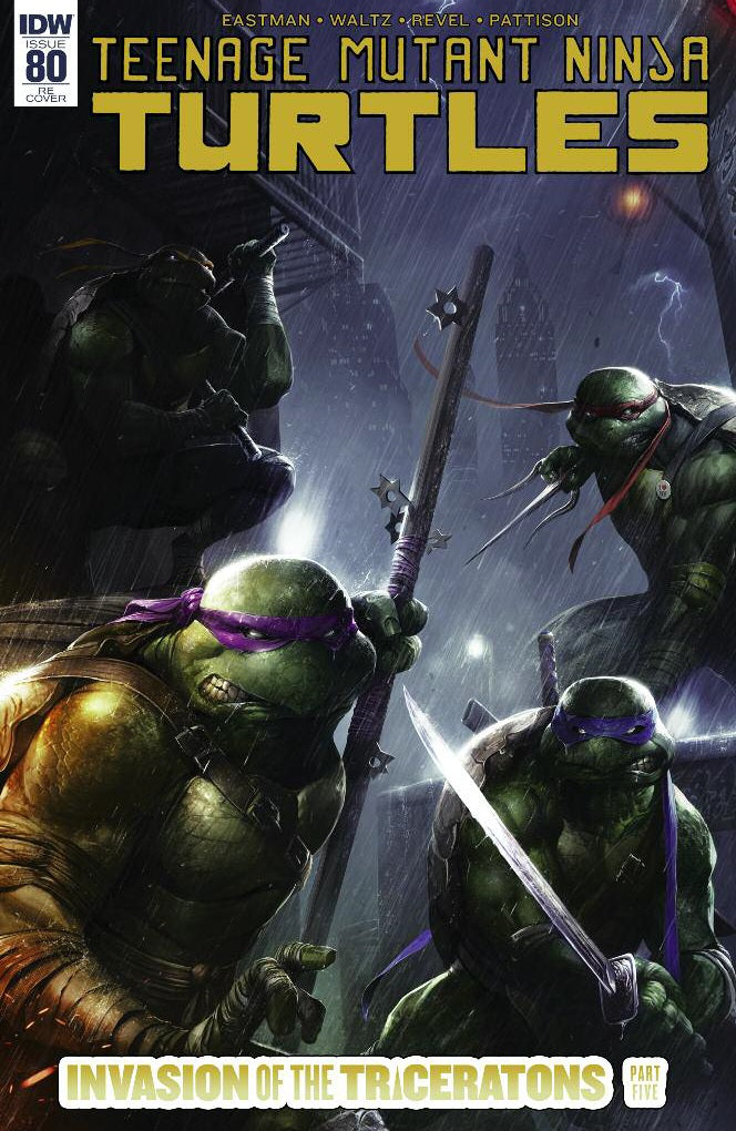 TMNT #80 Trade Dress Cover A Francesco Mattina Scott's Collectables Exclusive Cover