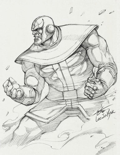 InHyuk Lee Thanos Pencil Sketch
